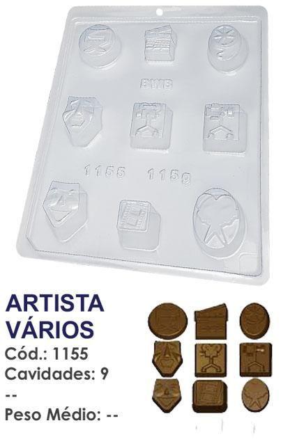 FORMA PLÁSTICA PARA CHOCOLATE BWB BOMBOM ARTISTA VÁRIOS UN R.1155