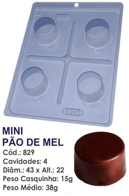 FORMA PARA CHOCOLATE COM SILICONE BWB PÃO DE MEL MINI UN R.829