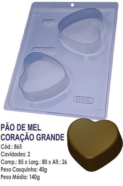 FORMA PARA CHOCOLATE COM SILICONE BWB PÃO DE MEL CORAÇÃO GRANDE UN R.865