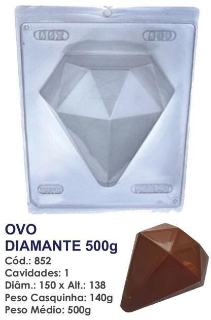 FORMA PARA CHOCOLATE COM SILICONE BWB OVO DIAMANTE 500GR UN R.852