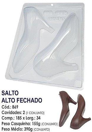 FORMA PARA CHOCOLATE COM SILICONE BWB SALTO ALTO FECHADO UN R.869