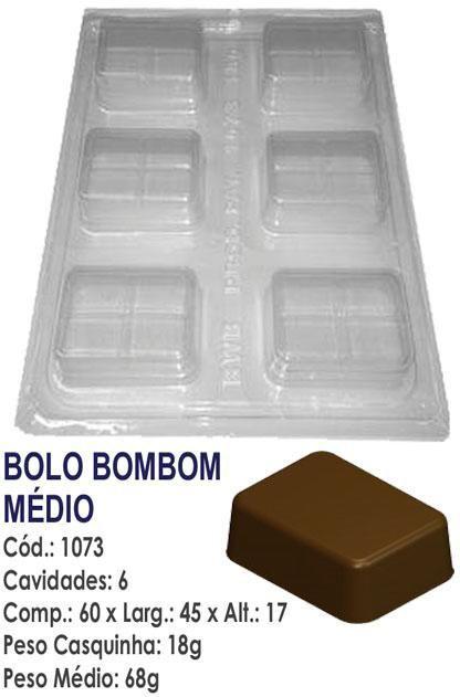 FORMA PARA CHOCOLATE COM SILICONE BWB BOLO BOMBOM MÉDIO UN R.1073