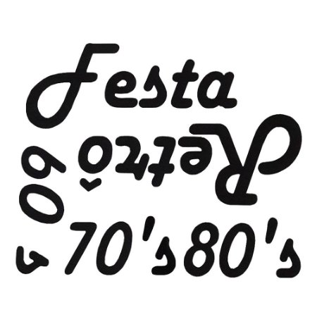 PAINEL ADESIVO VINIL LETREIRO FESTA RETRÔ ANOS 60 70 80 UN R.267