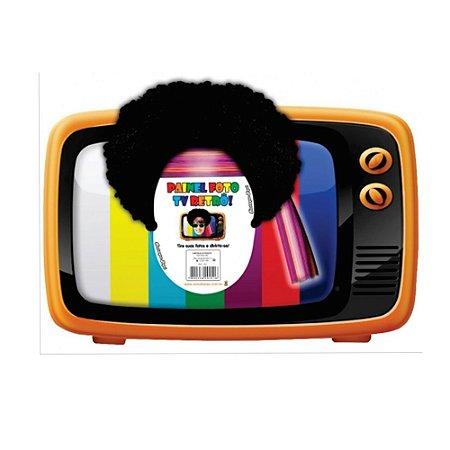 PLACA DECORATIVA FOTO TV RETRO 45CMX65CM R.561