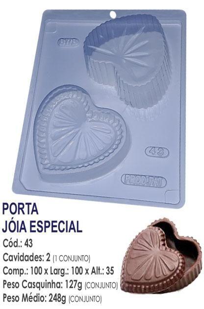 FORMA PARA CHOCOLATE COM SILICONE BWB PORTA JOIAS UN R.43