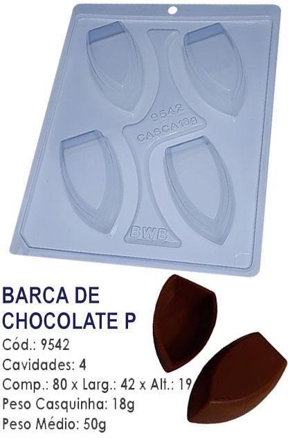 FORMA PARA CHOCOLATE COM SILICONE BWB BARCA PEQUENA UN R.9542