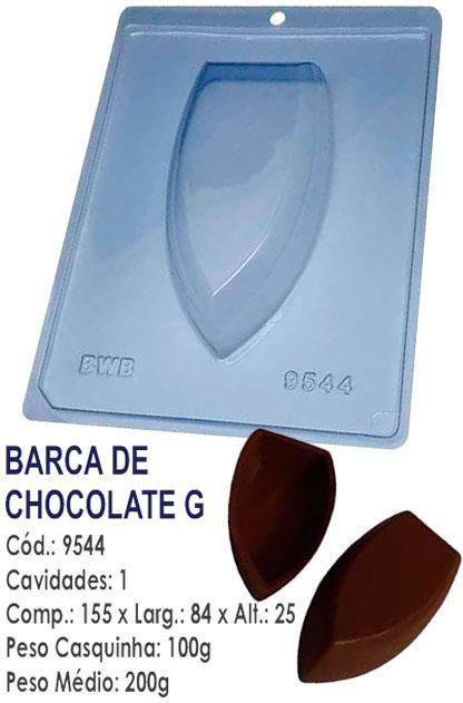 FORMA PARA CHOCOLATE COM SILICONE BWB BARCA GRANDE UN R.9544