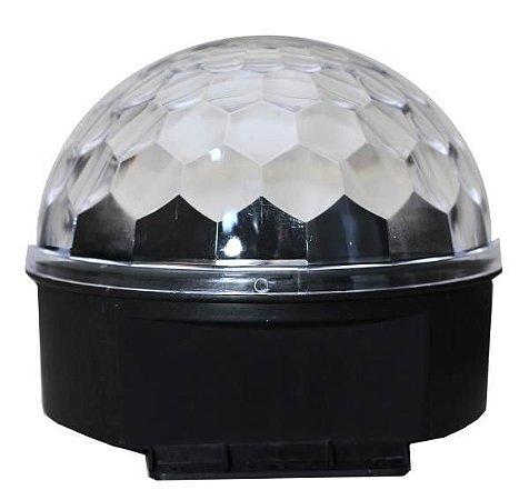 BOLA MALUCA CRISTAL DE LED RGB GRANDE LUZ FESTA BALADA 110V UN R.YDH0603