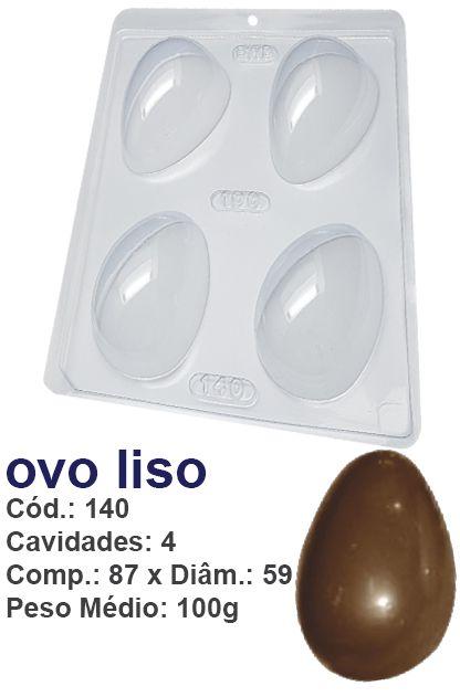 FORMA PLÁSTICA PARA CHOCOLATE BWB OVO DE PÁSCOA LISO 100GR UN R.140