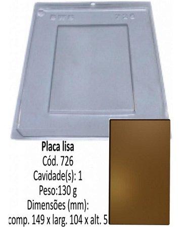 FORMA PLÁSTICA PARA CHOCOLATE BWB PLACA LISA RETANGULAR GRANDE 130G UN R.726