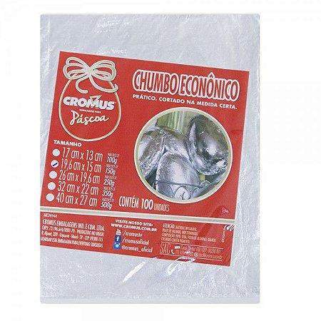 PAPEL CHUMBO PRATA CORTADO 150GR 19,5X15CM C/100UN R.022802