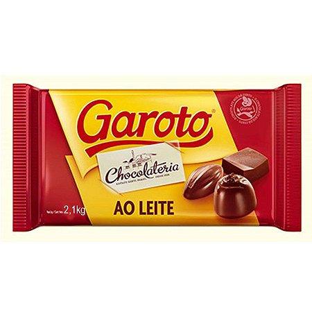 Chocolate Garoto Ao Leite 2,1kg