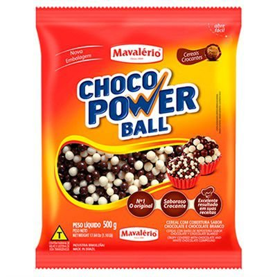 CHOCO POWER MINI BALL LEITE/BRANCO MA.C/500GR R.4161