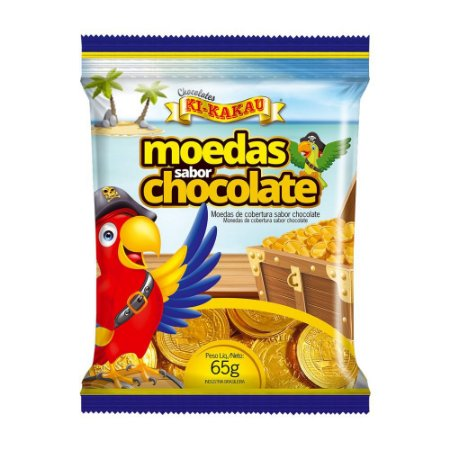 MOEDAS SABOR CHOCOLATE AO LEITE 65G R.000024