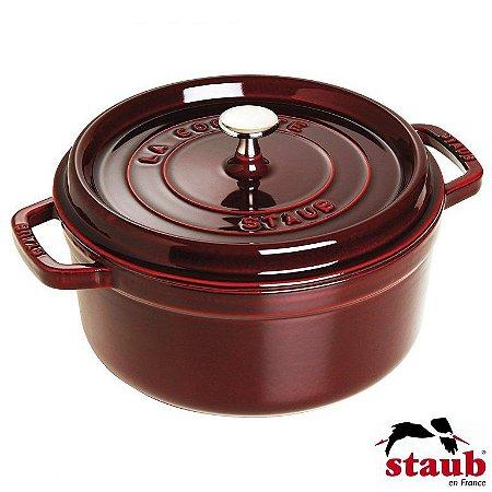 Caçarola Redonda 22cm de Ferro Staub Cocotte Vermelha Granada