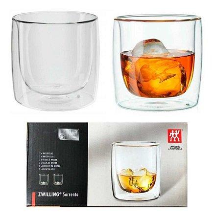 Jogo de Copos para Whisky 266ml Zwilling Sorrento 2 Peças Parede Dupla