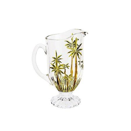 Jarra de Água Suco Vinho de Cristal Palm Tree Wolff 1.5L