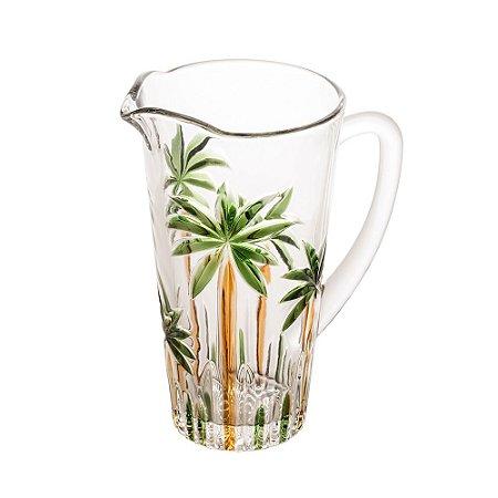 Jarra de Água Suco Vinho de Cristal Palm Tree Wolff 1.2L