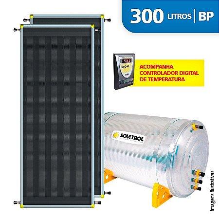 Aquecedor Solar Soletrol Digital 300 Litros com 2 Coletores Solares de 2,0m² - BP