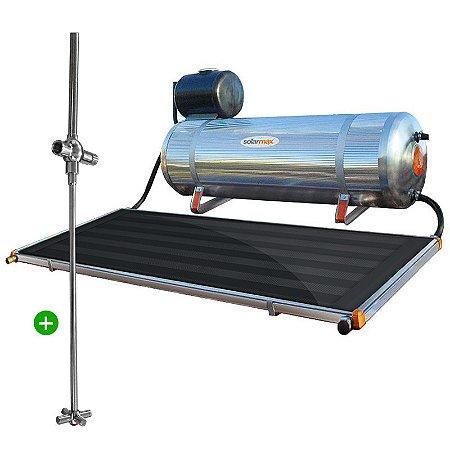 Aquecedor Solar Solarmax Eco 200 com Coletor Solar de 1,6m² + Registro Misturador Solar para Chuveiro. Pronto para Instalar!