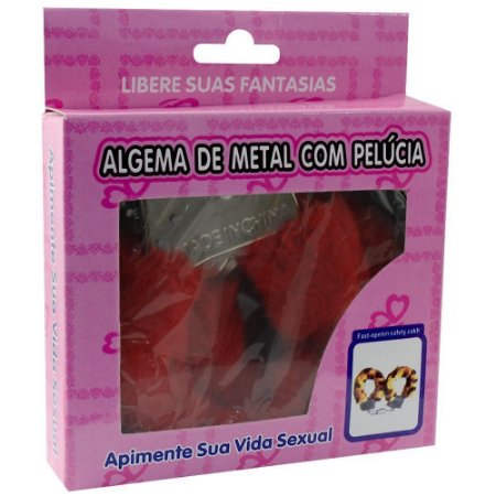 ALGEMA DE METAL COM PELÚCIA SIMPLES