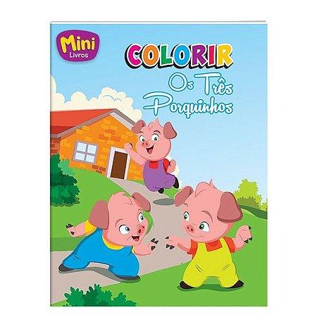 Mini Livro Colorir - Os Três Porquinhos