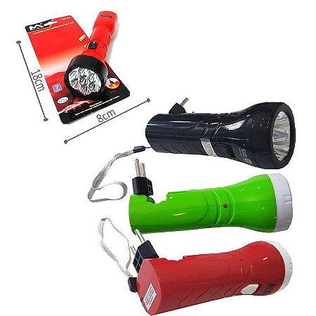 Lanterna manual recarregável 4 Led