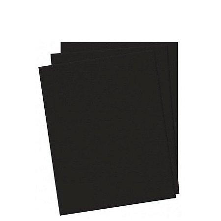 Folhas de E.V.A Liso Preto Pct c/ 10 - 40x60