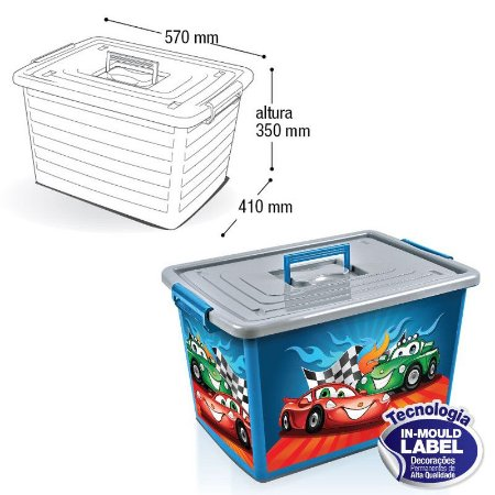 Container Organizador Label Azul - 50L