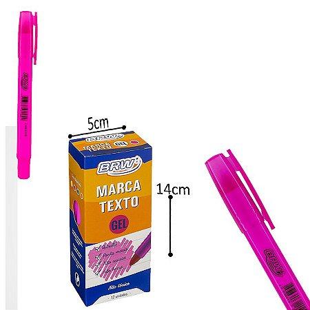 Marca Texto Gel Rosa - 12 und