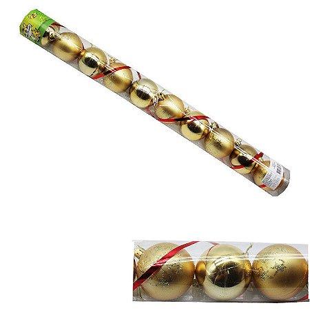 Bolas de Natal Douradas - 12 bolas