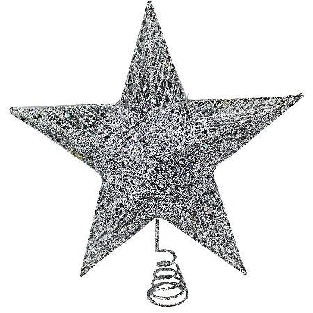 Estrela Ponteira de Árvore - Prata