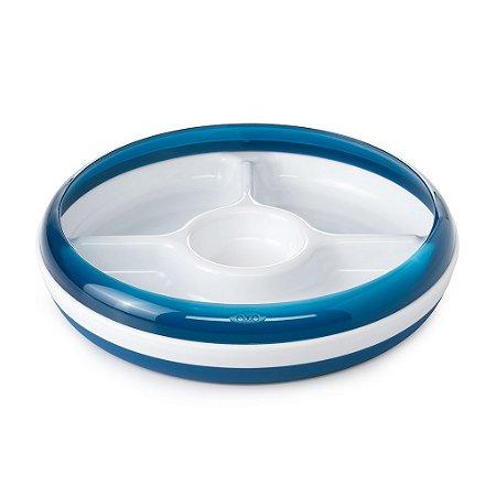 Prato com Divisórias com anel removível Oxotot - Azul Marinho
