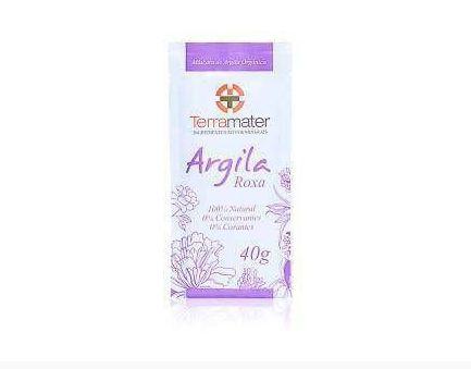 Argila Orgânica Roxa Rejuvenescimento Terramater - 40g