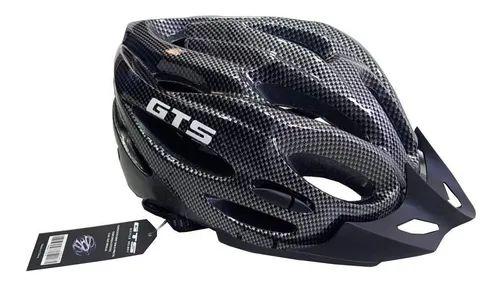 Capacete GTS Grafite C/ Sinalizador Ciclismo