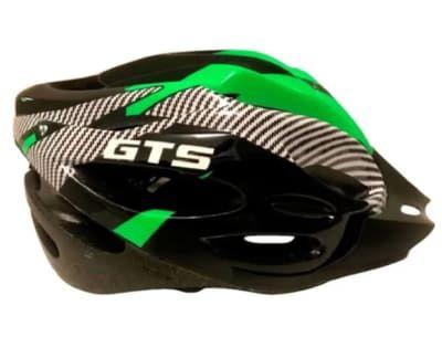 Capacete GTS Verde C/ Sinalizador Ciclismo