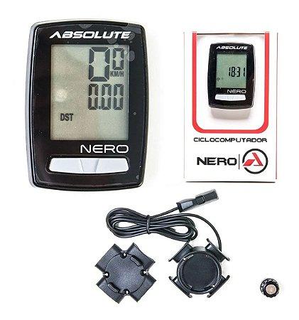 Ciclocomputador Absolute Nero Com Fio Preto