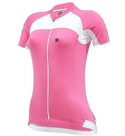 Camisa Márcio May Elite Rosa/Branco Feminina
