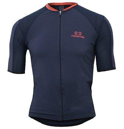 Camisa Marcio May Elite Marinho/Laranja Masculina