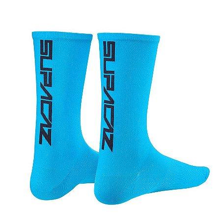 Meia Supacaz Straight Up Azul Neon G/GG