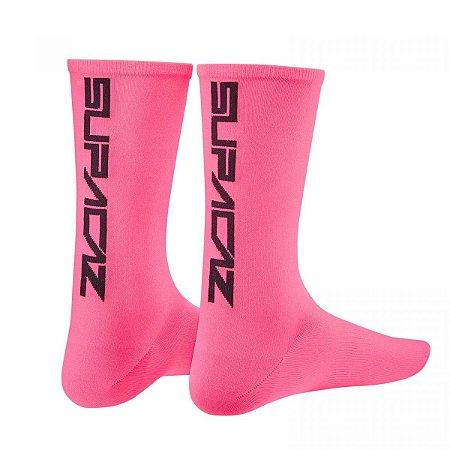 Meia Supacaz Straight Up Pink Neon P/m