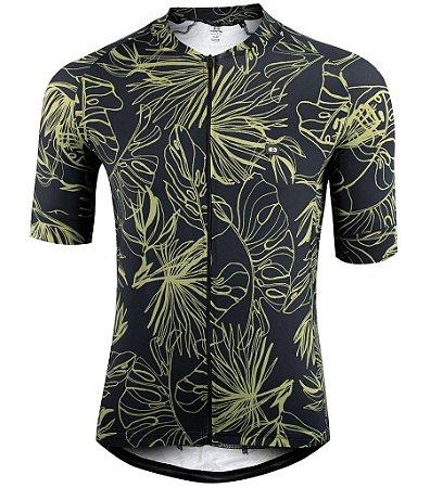 Camisa Marcio May Funny Monstera Leaves Masculina