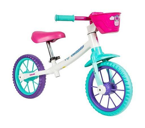 Bicicleta Infantil Nathor Balance Drop Cecizinha s/ Freios c/ Rolamento (equilíbrio)