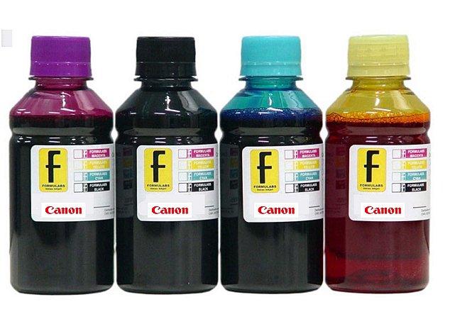 100ml de Tinta CANON Corante para Impressoras Cartuchos Bulk Ink Recarga Universal P/ Todos Modelos PRETO / AZUL / MAGENTA / AMARELO