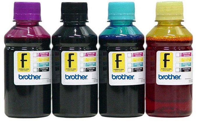 500ml de Tinta BROTHER Corante para Impressoras Cartuchos Bulk Ink Recarga Universal P/ Todos Modelos PRETO / AZUL / MAGENTA / AMARELO / LIGHTS