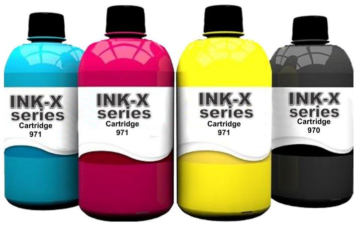 Kit 400ml Tinta PIGMENTADA Para Transfer Cartuchos Bulk Ink Recargas de Impressora HP Epson Canon Brother