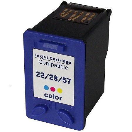 Cartucho de Tinta Colorido Compativel Universal para Impressora HP - 22 | 28 | 57 | 22xl Color 14ml Novo