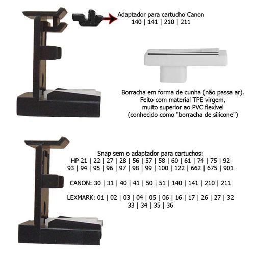 Snap Fill Cabeça Impressão de Cartuchos Canon G1100 G2100 G3100 G4100 Pressuriza e retira o Ar