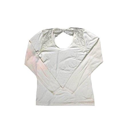 Camiseta Manga Longa C. MAURICIO Feminina Off White
