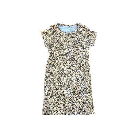 Vestido Animal Print Amarelo